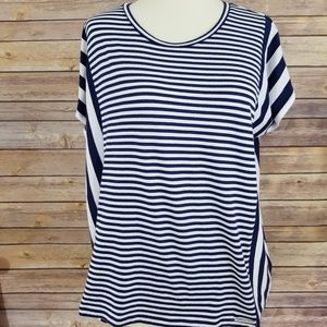 Michael Kors Striped Blouse Dolman Sleeve